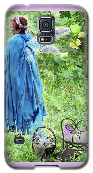 Galaxy S5 Case featuring the digital art A Dragon Confides In A Fairy by Lise Winne