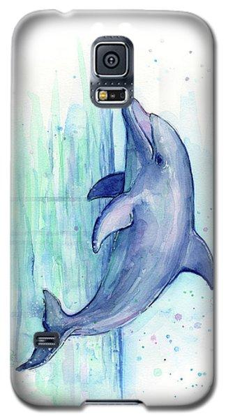 Dolphin Watercolor Galaxy S5 Case