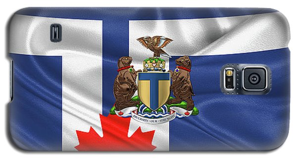 Patriotic Galaxy S5 Case - Toronto - Coat Of Arms Over City Of Toronto Flag  by Serge Averbukh