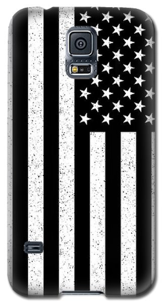 Galaxy S5 Case featuring the digital art Usa Flag Hidef Super Grunge Patina by Bruce Stanfield