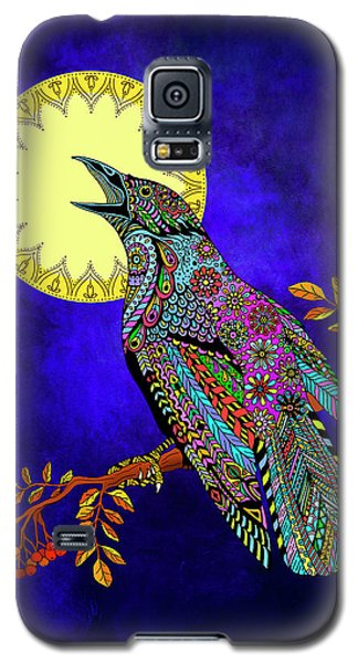 Galaxy S5 Case featuring the drawing Electric Crow by Tammy Wetzel