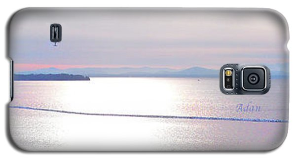 Lake Champlain South From Atop Battery Park Wall Panorama Galaxy S5 Case