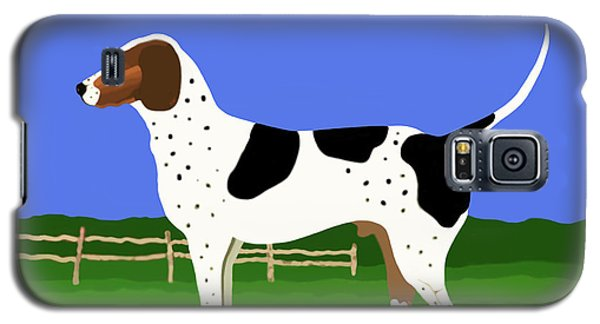 German Shorthaired Pointer In A Field Galaxy S5 Case by Marian Cates