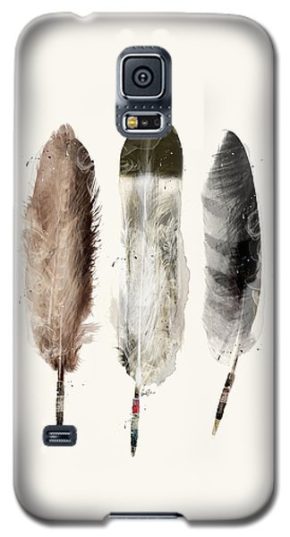 Galaxy S5 Case featuring the painting Native Feathers by Bri B