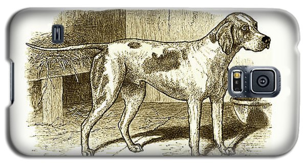 Vintage Sepia German Shorthaired Pointer Galaxy S5 Case