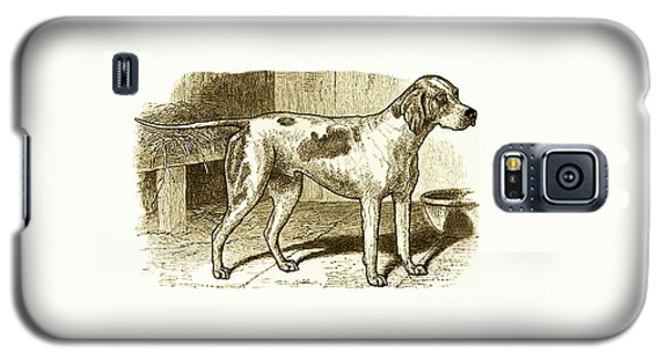 Vintage Sepia German Shorthaired Pointer Galaxy S5 Case by Marian Cates