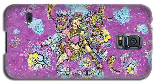 Purple Paisley Flower  Galaxy S5 Case
