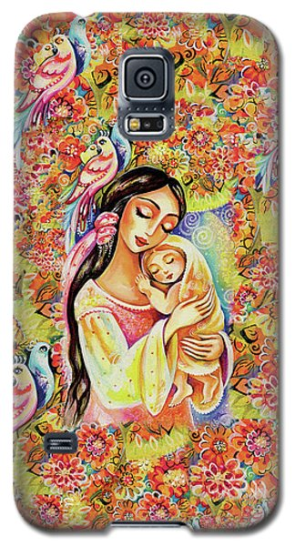 Galaxy S5 Case featuring the painting Little Angel Dreaming by Eva Campbell