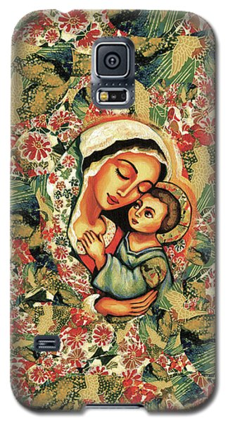 Galaxy S5 Case featuring the painting The Blessed Mother by Eva Campbell