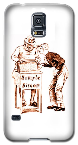 Simple Simon Mother Goose Vintage Nursery Rhyme Galaxy S5 Case by Marian Cates