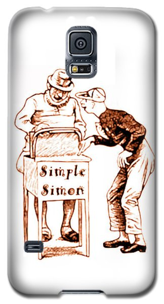 Simple Simon Mother Goose Vintage Nursery Rhyme Galaxy S5 Case