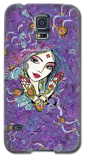Galaxy S5 Case featuring the painting Hands Of India by Eva Campbell