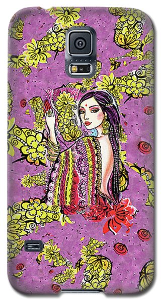 Galaxy S5 Case featuring the painting Soul Of India by Eva Campbell