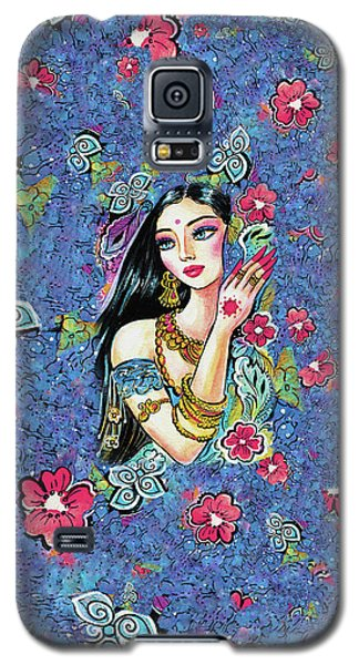 Galaxy S5 Case featuring the painting Gita by Eva Campbell