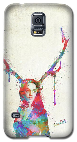 Galaxy S5 Case featuring the digital art Song Of Elen Of The Ways Antlered Goddess by Nikki Marie Smith