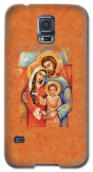 Galaxy S5 Case featuring the painting The Holy Family by Eva Campbell