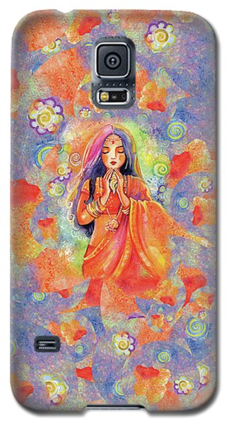 Galaxy S5 Case featuring the painting Seashell Wish by Eva Campbell