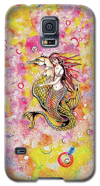 Galaxy S5 Case featuring the painting Black Sea Mermaid by Eva Campbell