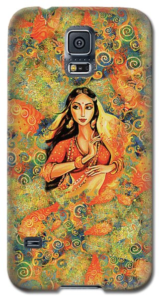 Galaxy S5 Case featuring the painting Flame by Eva Campbell