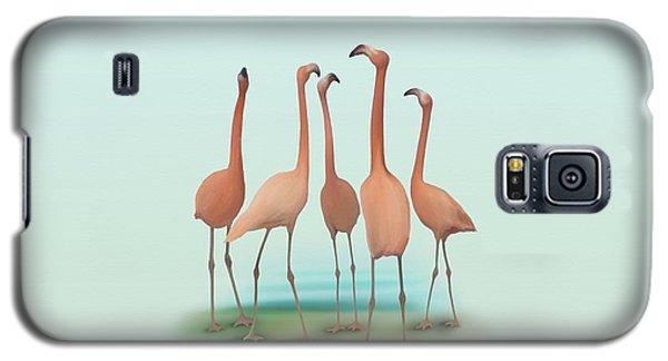 Flamingo Mingle Galaxy S5 Case