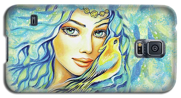 Galaxy S5 Case featuring the painting Bird Of Secrets by Eva Campbell