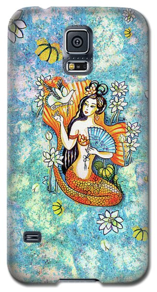 Galaxy S5 Case featuring the painting A Letter From Far Away by Eva Campbell