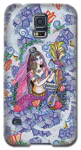 Galaxy S5 Case featuring the painting Scheherazade's Bird by Eva Campbell