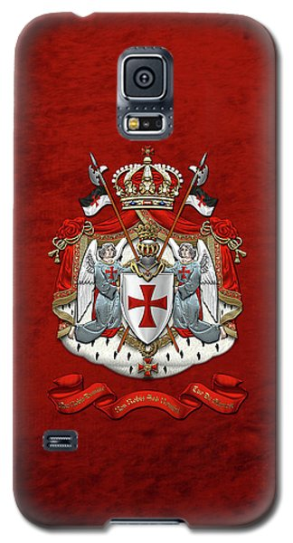 Knights Templar - Coat Of Arms Over Red Velvet Galaxy S5 Case