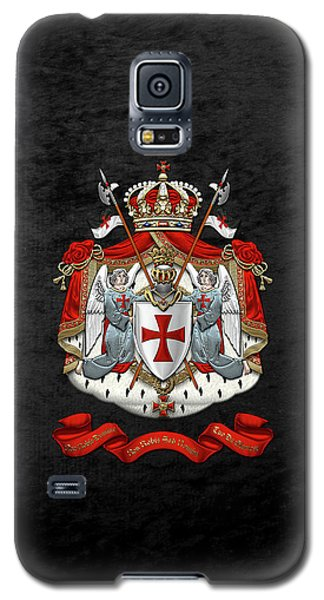 Knights Templar - Coat Of Arms Over Black Velvet Galaxy S5 Case