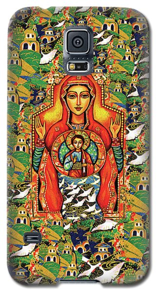 Galaxy S5 Case featuring the painting Our Lady Of The Sign by Eva Campbell