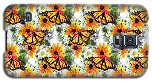 Galaxy S5 Case featuring the mixed media Butterfly Pattern by Christina Rollo