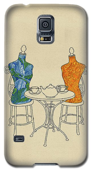 Galaxy S5 Case featuring the painting High Tea by Meg Shearer