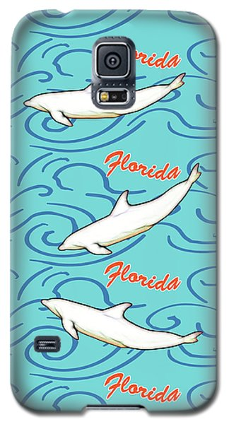 Galaxy S5 Case featuring the digital art Florida Dolphin Print by Methune Hively