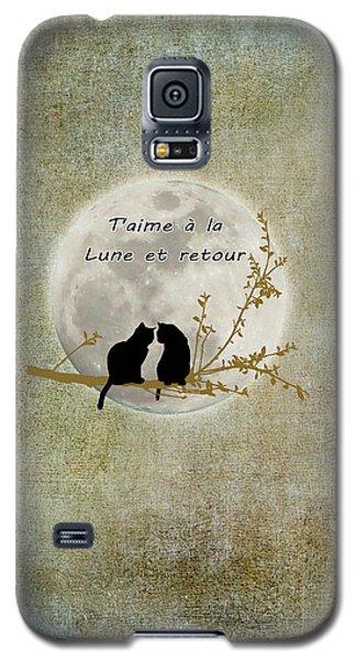 Galaxy S5 Case featuring the digital art T'aime A La Lune Et Retour by Linda Lees