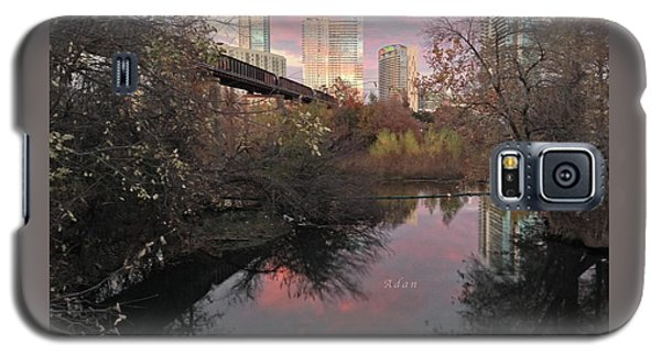 Austin Hike And Bike Trail - Train Trestle 1 Sunset Triptych Right Galaxy S5 Case
