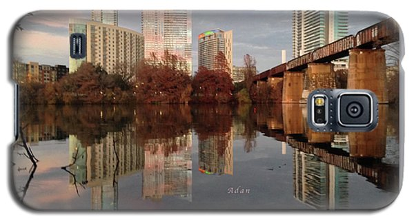 Austin Hike And Bike Trail - Train Trestle 1 Sunset Triptych Left Galaxy S5 Case
