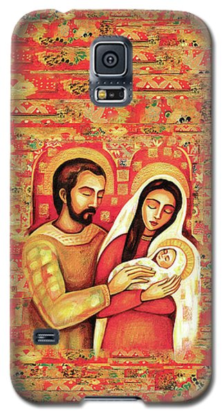 Galaxy S5 Case featuring the painting Holy Family by Eva Campbell