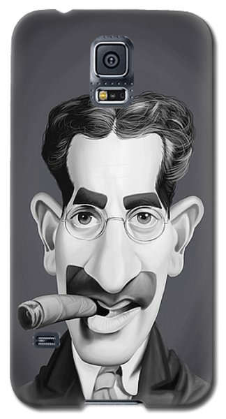 Celebrity Sunday - Groucho Marx Galaxy S5 Case by Rob Snow