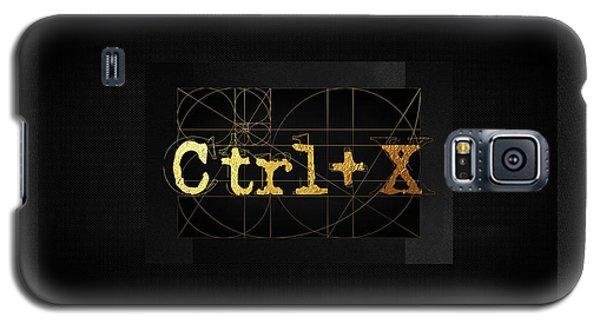 Galaxy S5 Case featuring the digital art Control X - Cut by Serge Averbukh