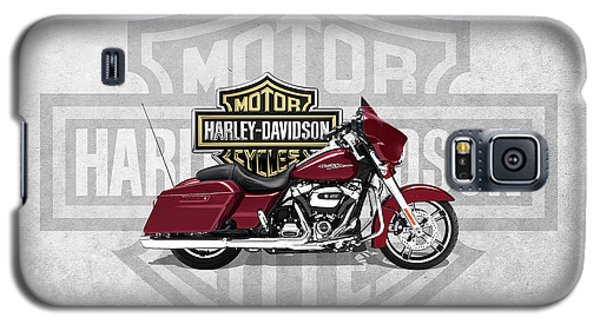 Galaxy S5 Case featuring the digital art 2017 Harley-davidson Street Glide Special Motorcycle With 3d Badge Over Vintage Background  by Serge Averbukh