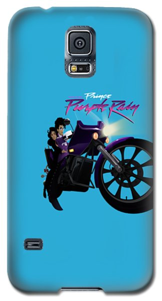 Galaxy S5 Case featuring the digital art I Grew Up With Purplerain by Nelson dedos Garcia