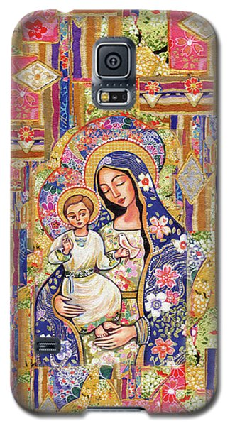 Galaxy S5 Case featuring the painting Panagia Eleousa by Eva Campbell