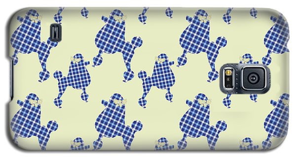 Galaxy S5 Case featuring the mixed media French Poodle Plaid by Christina Rollo