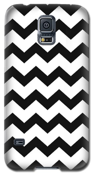 Galaxy S5 Case featuring the mixed media Black White Geometric Pattern by Christina Rollo