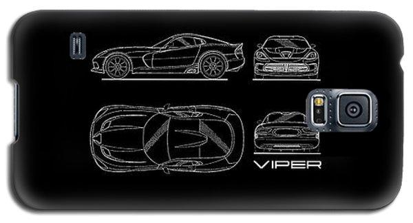 Srt Viper Blueprint Galaxy S5 Case by Mark Rogan
