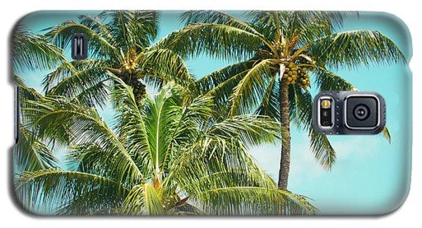 Galaxy S5 Case featuring the photograph Coconut Palm Trees Sugar Beach Kihei Maui Hawaii by Sharon Mau