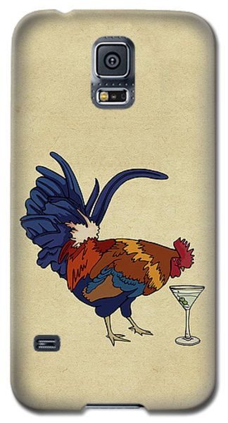 Galaxy S5 Case featuring the mixed media Cocktails by Meg Shearer