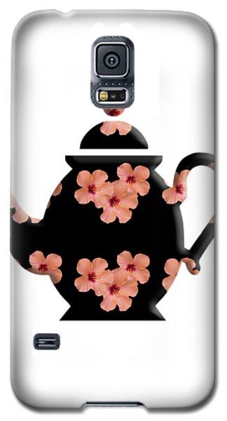 Hibiscus Pattern Teapot Galaxy S5 Case