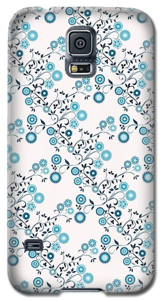 Galaxy S5 Case featuring the digital art Delft Floral Pattern by Methune Hively