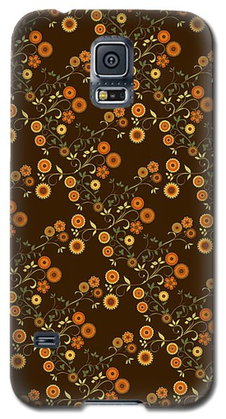 Galaxy S5 Case featuring the digital art Autumn Flower Explosion by Methune Hively